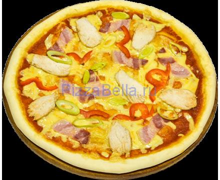 Пицца С курицей и беконом