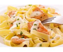 Паста Феттучини  с лососем
