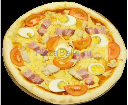 Пицца c беконом и яйцом